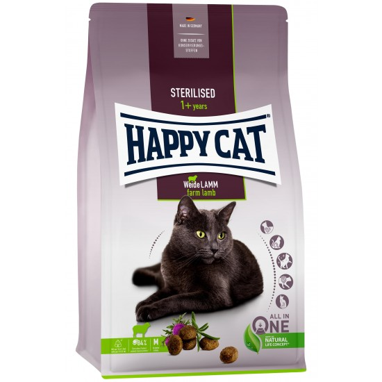 Happy Cat Sterilised Adult Weide-Lamm