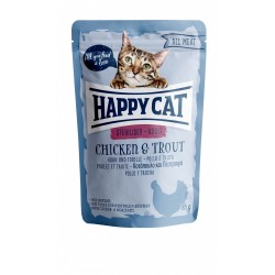 Happy Cat All Meat - Sterilised Adult Chicken & Trout