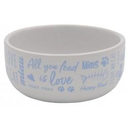 Happy Cat Ceramic Feeding Bowl