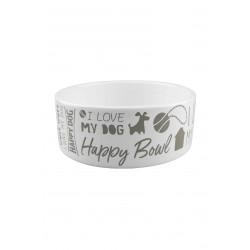 Happy Dog Ceramic Feeding Bowl (small)