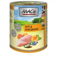 MAC's Dog with turkey meat and blueberries